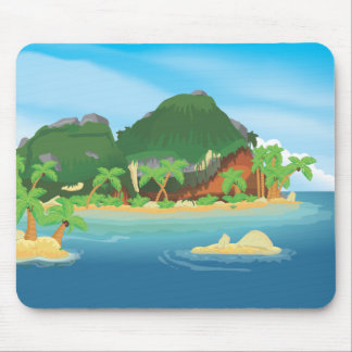 Tropical Treasure Island Mouse Pad