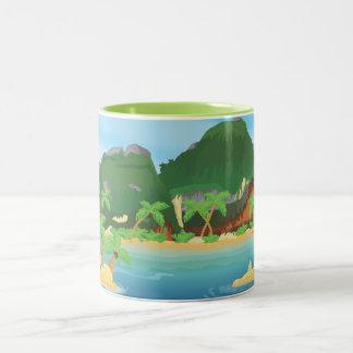 Tropical Treasure Island Two-Tone Mug