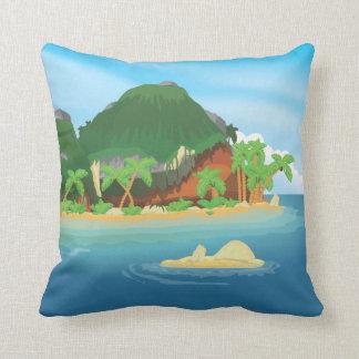 Tropical Treasure Island Throw Cushion