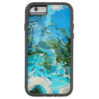 Tropical Turquoise Ocean Blue & Seaweed Green Tough Xtreme iPhone 6 Case