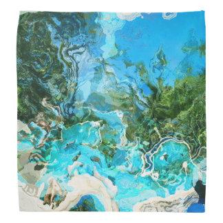 Tropical Turquoise Ocean Blue Seaweed Green Bandanna