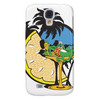 Tropical Vacation Gecko Galaxy S4 Case