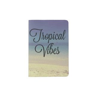 Tropical Vibes Beach Passport Holder