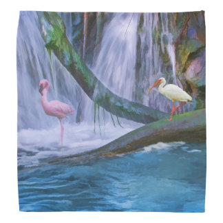 Tropical Waterfall, Birds Bandana