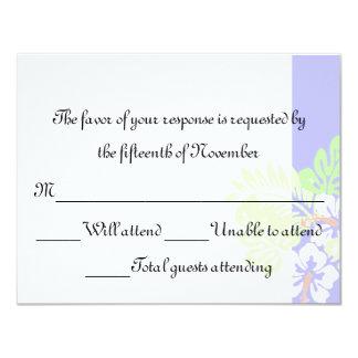 Tropical Wedding Response Card 11 Cm X 14 Cm Invitation Card