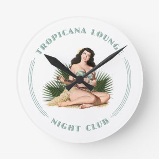 Tropicana Night Club 1 Tropicana Lounge Hula Girl Round Clock