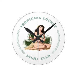 Tropicana Night Club 1 Tropicana Lounge Hula Girl Wall Clock