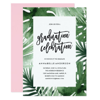 Tropics Graduation Celebration Invitation