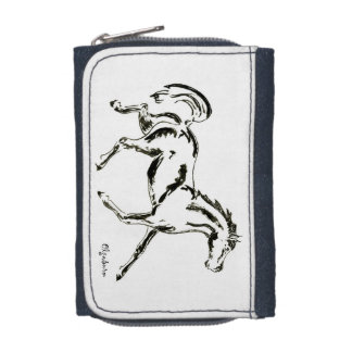 Trotting horse wallet with coin purse