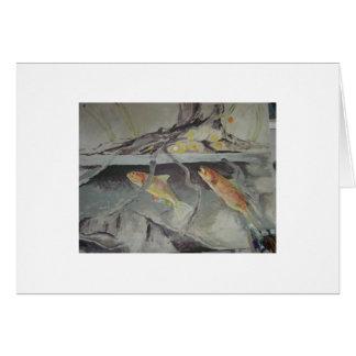 trout feeding card