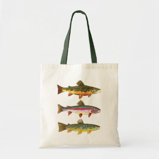 Trout Fishing Tote Bag