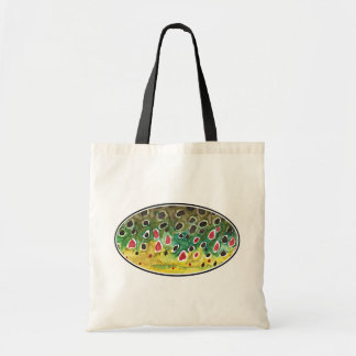 Trout Fly FIshing Tote Bag