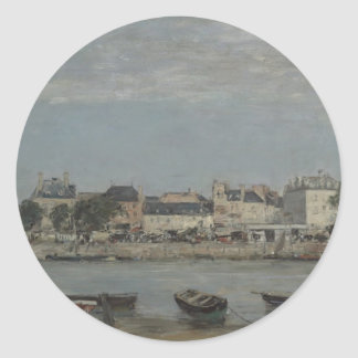 Trouville by Eugene Boudin Classic Round Sticker