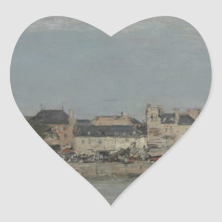 Trouville by Eugene Boudin Heart Sticker
