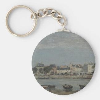 Trouville by Eugene Boudin Key Ring