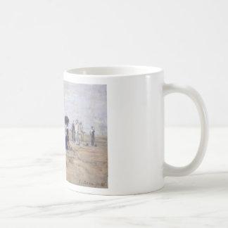 Trouville, Scène de plage - Eugène Boudin Basic White Mug
