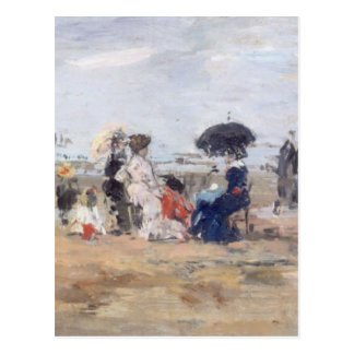 Trouville, Scène de plage - Eugène Boudin Postcard