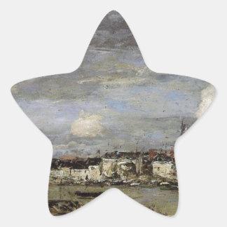 Trouville, the Port by Eugene Boudin Star Sticker