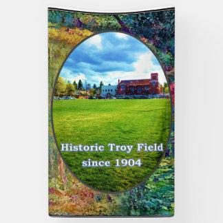Troy Field banner