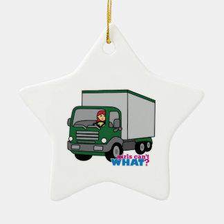 Truck Driver - Green Truck Christmas Ornament