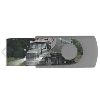 Trucker Feed Truck Lorry Heavy Transport Gift 3 USB Flash Drive