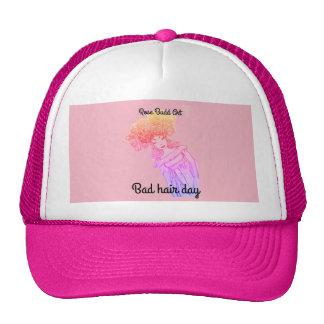 trucker hat,pink,bad hair day cap
