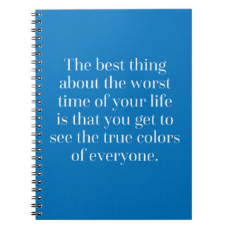 True Colours Quote Spiral Notebook