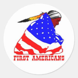 True First Americans Classic Round Sticker