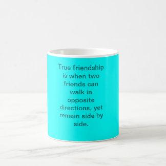 True friendship is when two friends can walk in... magic mug
