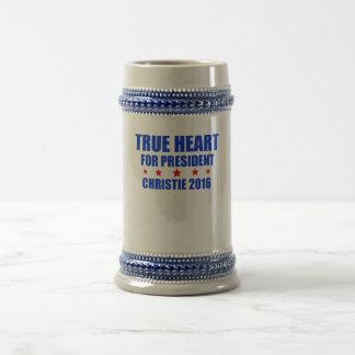 True Heart for President Chris Christie 2016 Beer Stein