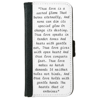 True Love Poem iPhone 6 Wallet Case