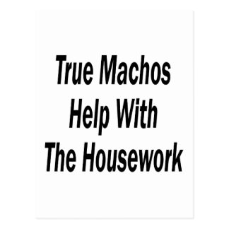 True Machos Help With The Housework Post Cards
