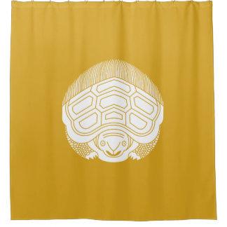 True opposite turtle shower curtain