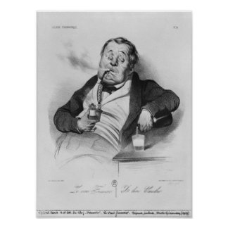 true smoker, from series 'Galerie physionomique' Posters