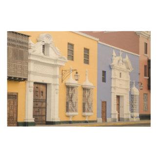 Trujillo, Peru. Ornate Architecture Of Trujillo Wood Prints