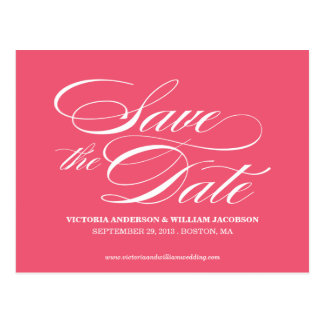 TRULY ELEGANT | SAVE THE DATE ANNOUNCEMENT POSTCARD