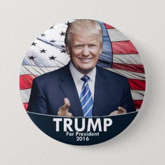 Trump - American Flag 7.5 Cm Round Badge