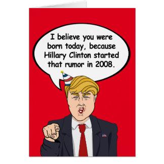Trump Birthday Card - Hillary started your birthda