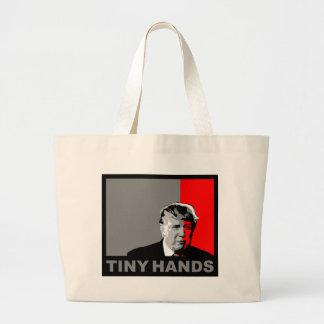 Trump/Drumpf: Tiny Hands Large Tote Bag