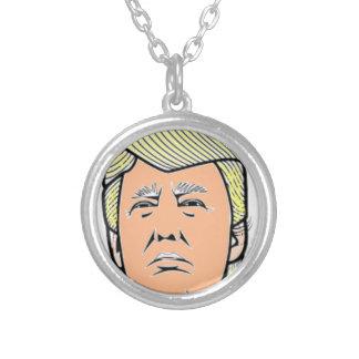 Trump Round Pendant Necklace