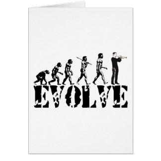Trumpet Cornet Bugle Band Musical Music Evolution Greeting Card