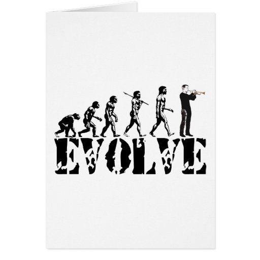 Trumpet Cornet Bugle Band Musical Music Evolution Greeting Card
