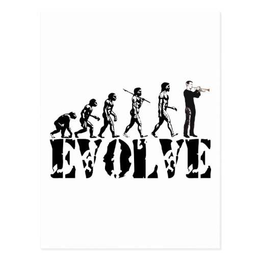 Trumpet Cornet Bugle Band Musical Music Evolution Post Cards