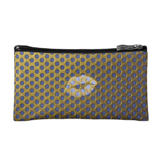 """Trusses of make-up small size """"Gold Lips """" Cosmetic Bag"""