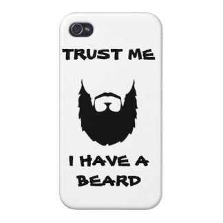 Trust me i have a beard cool funny humor facial ha iPhone 4/4S case