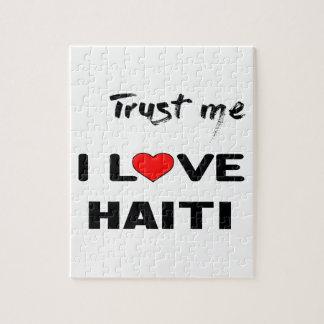 Trust me I love Haiti. Jigsaw Puzzle