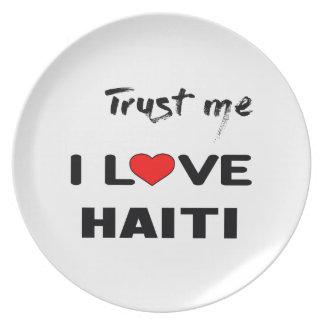Trust me I love Haiti. Plate