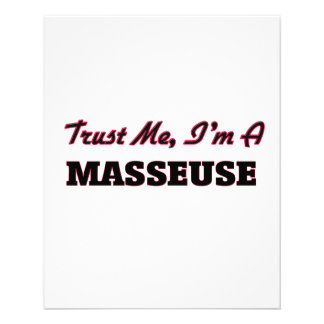 Trust me I'm a Masseuse Personalized Flyer