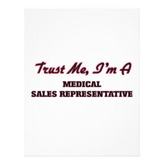 Trust me I'm a Medical Sales Representative Flyers