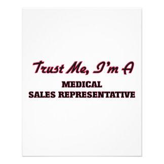 Trust me I'm a Medical Sales Representative Flyer Design